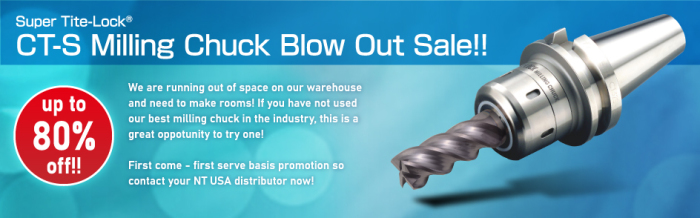 CT-S Milling Chuck Blowout Sale up to 80% off!